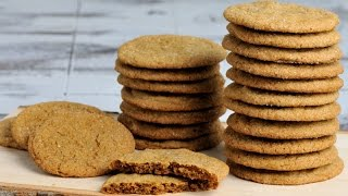 Gingersnap Cookies With Crystallized Ginger, Haniela's