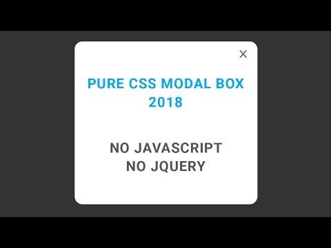 Pure CSS modal box Tutorial (No Javascript No JQuery) English