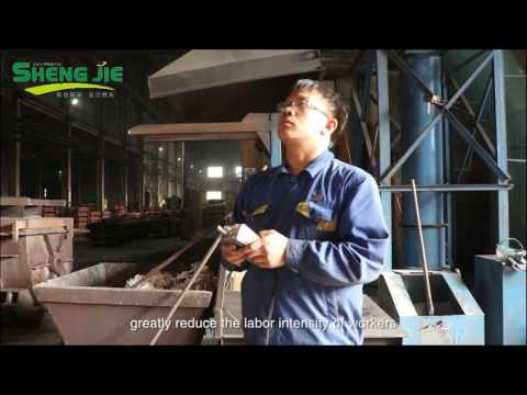 Self-developed Electric Induction Furnace Slag Removal Machine by QINGZHOU SHENGJIE, CHINA