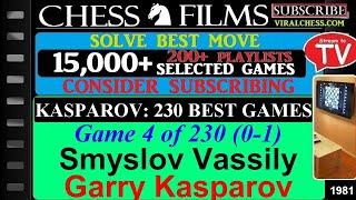 Kasparov: 230 Best Games (#4 of 230): Smyslov Vassily vs. Garry Kasparov