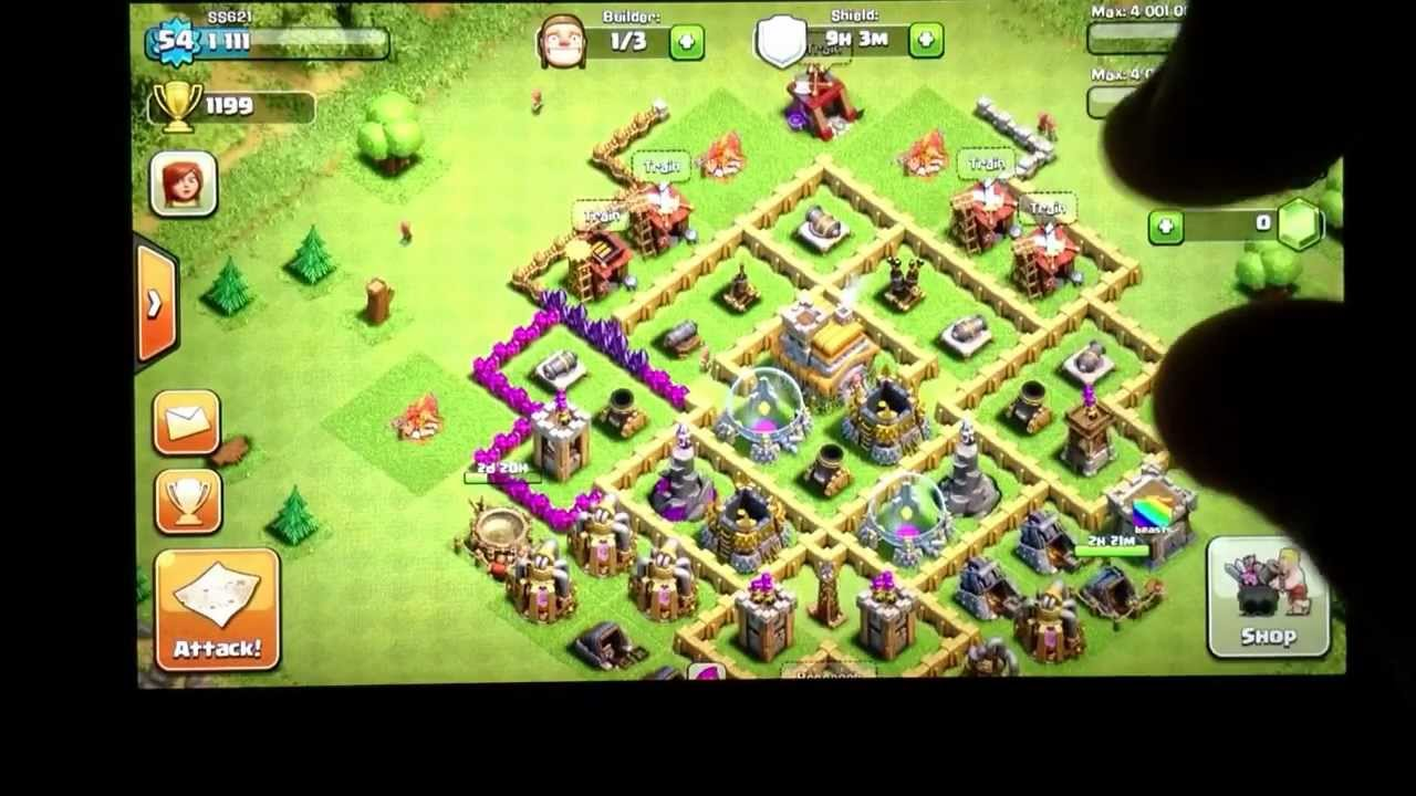 best defense strategy level 7 town hall youtube