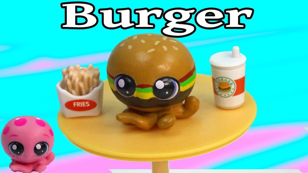 Custom lps octopus cheeseburger inspired diy littlest pet shop fast