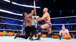Big E and Cesaros vicious Trick or Street Fight SmackDown Oct 30 2018