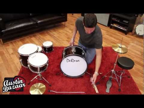 How to Assemble Kids Drum Kit | DeRosa 516 5-Piece 16