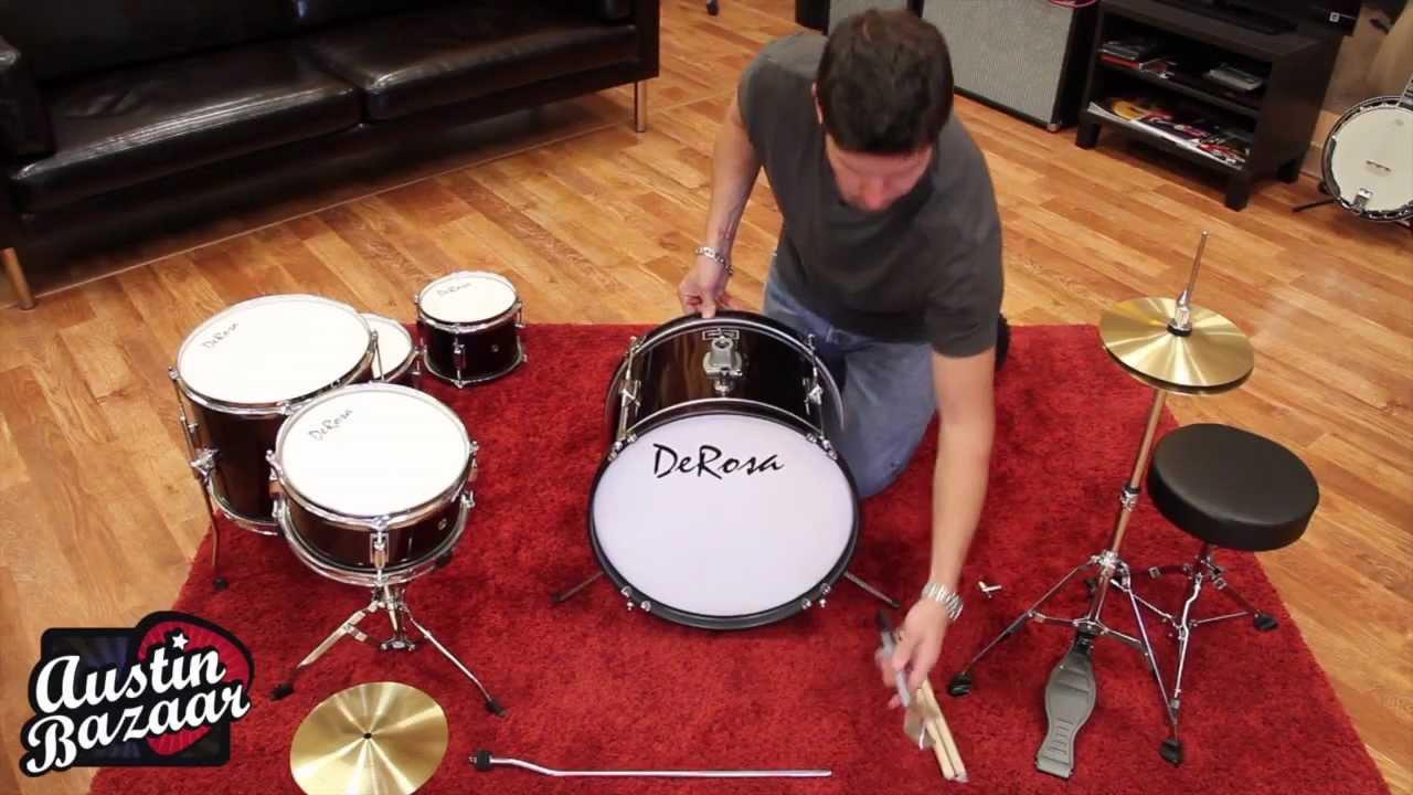 how to assemble kids drum kit derosa 516 5 piece 16 drum kit