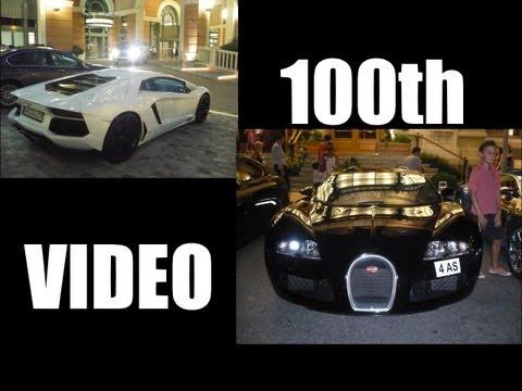 *100th video*  A crazy night in Monaco (Veyron Centenaire, Enzo, Carrera GT...)