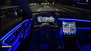 The Mercedes S Class 2021 Test Drive At NIGHT
