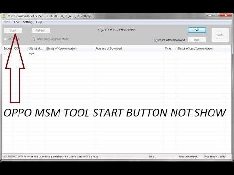 OPPO A71/cph1801 MSM FLASHING TOOLS START BOUTEN NOT WORK & CONNECT