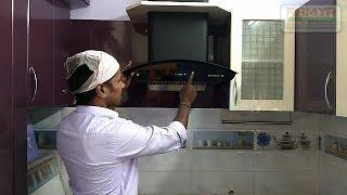 Black Currant & Half White Colours High Gloss Finish for Ramya Modular Kitchen