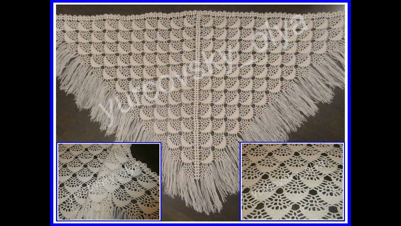 схема вязания шали крючком ракшка