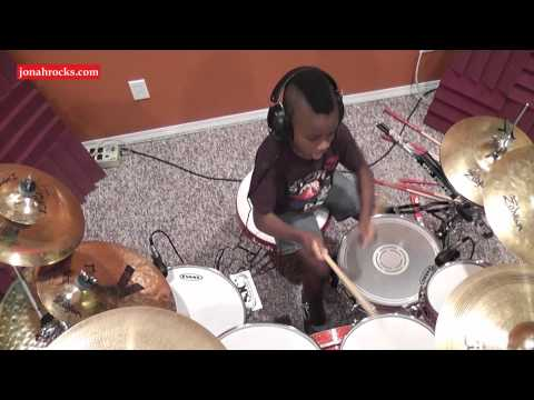 Deep Purple - Smoke on the Water, 7 Year Old Drummer, Jonah Rocks