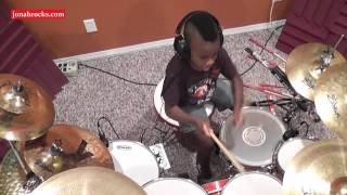 Deep Purple - Smoke on the Water, 7 Year Old Drummer, Jonah Rocks