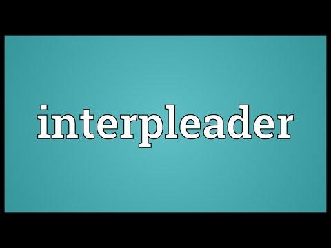 Header of interpleader