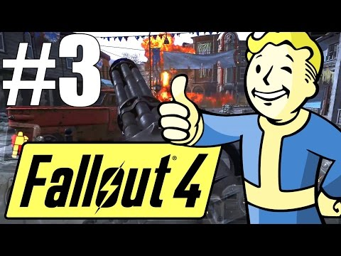 Fallout 4 Lets Play - Part 3 - When Freedom Calls! (Survival Mode)