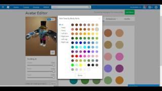 Cómo poner color en ROBLOX 2017 Avatar
