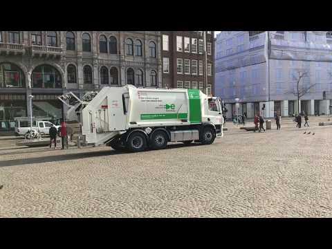 Eerste 100% elektrische huisvuilwagen voor de gemeente Amsterdam.