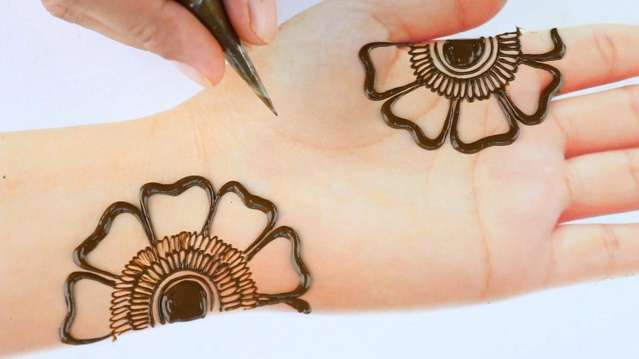 Mehendi design front hand Simple Henna designs 2021 - Easy Mehndi design for hands - Lovely Mehndi