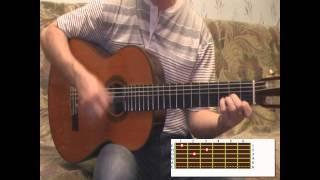 Разбор на гитаре Звезда по имени Солнце с баррэ и без