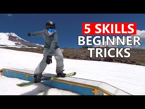 5 Skills for Beginner Snowboard Tricks