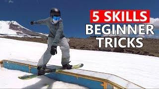 5 Skills for Beginner Snowboard Tricks