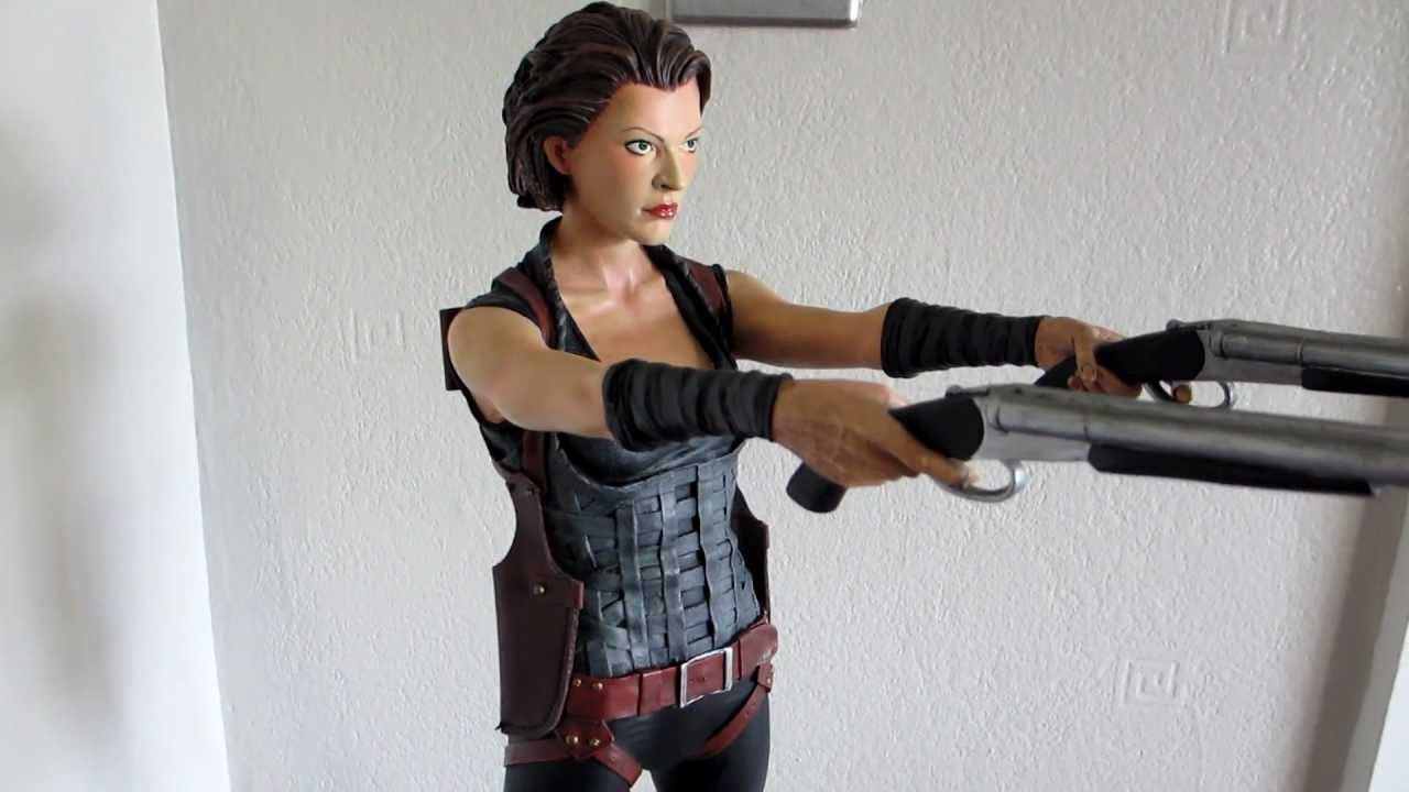 Alice Statue From Resident Evil Afterlife Hcg Youtube