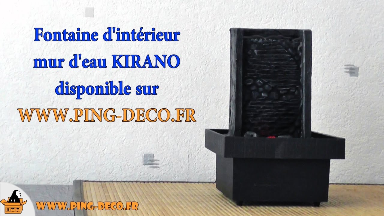 fontaine mur d 39 eau int rieur kirano www ping deco fr. Black Bedroom Furniture Sets. Home Design Ideas