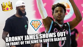 Bronny James Jr. PLAYS JUST LIKE HIS FATHER!! | Balling on the Beach Highlights
