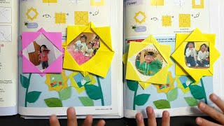 어린이급수종이접기3급 꽃액자접기