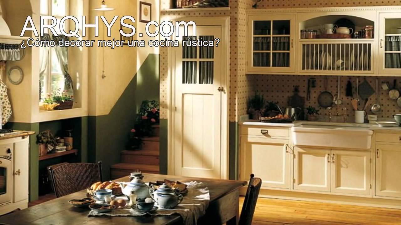 C mo decorar una cocina r stica aprende ahora mismo for Como decorar una cocina