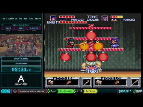 The Legend of the Mystical Ninja by Countdown42 and cleartonic in 32:52 AGDQ 2018