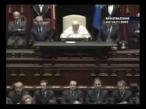 Giovanni paolo ii al parlamento italiano parte 1 youtube for Lavorare al parlamento italiano