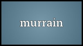 Murrain Meaning