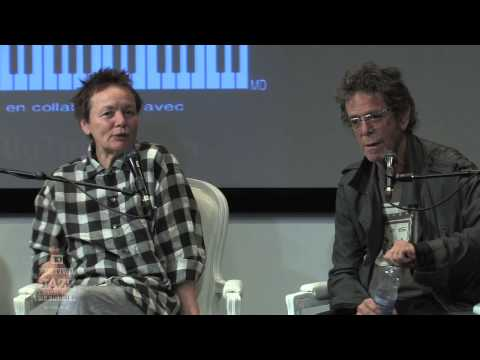 Laurie Anderson & Lou Reed - Press Conference 2010
