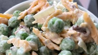 Pea Salad - How to Make Cheddar, Bacon and Pea Salad Fresh from Scratch