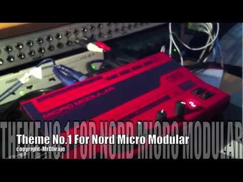 Theme No1 For Nord Micro Modular - Not Moog Modular