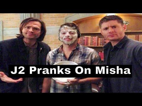 Jensen and Jared Pranks On Misha Collins