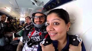 Gilu joseph SkyDive Dubai