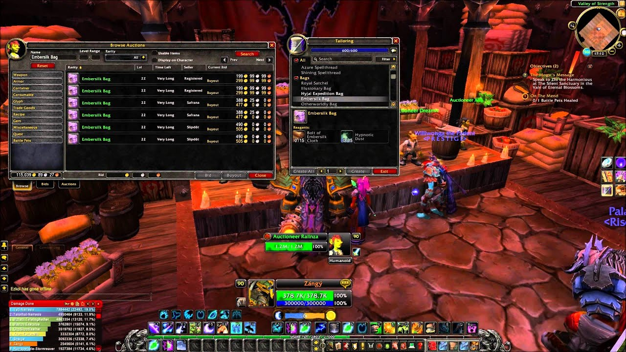 how to make money tailoring wow legion