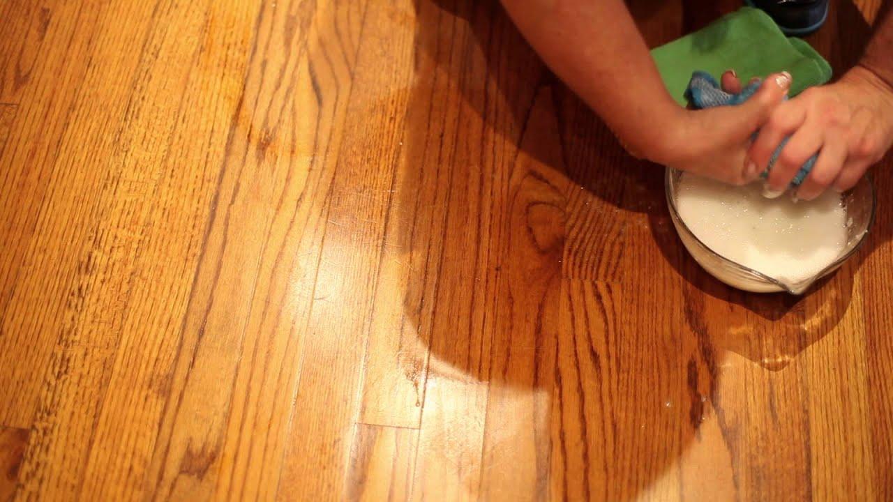 how to remove floor wax - youtube