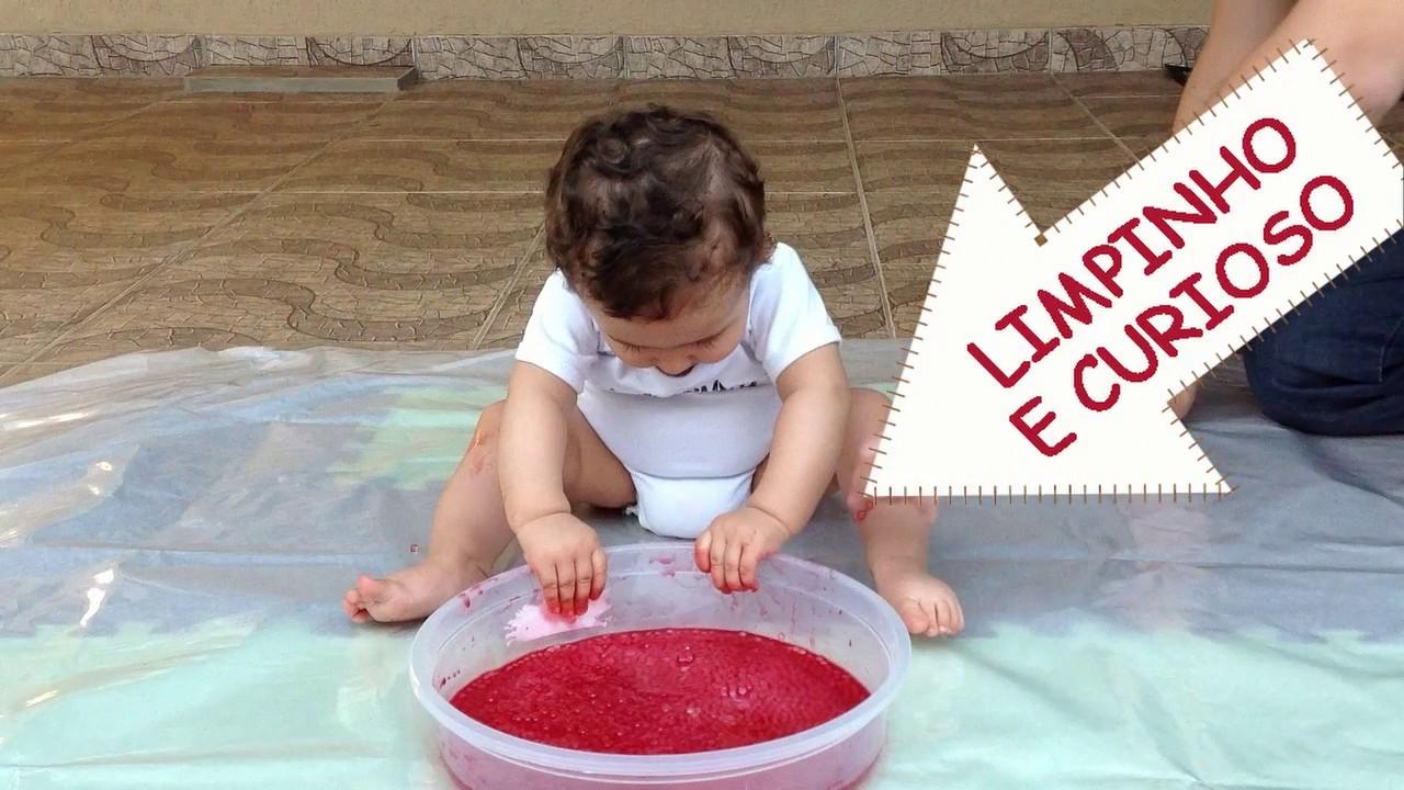 Atividade sensorial com bebê - Hora da Meleca - YouTube