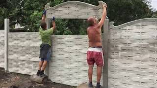 видео Бетонные заборы