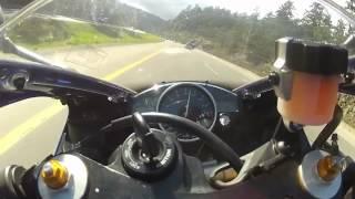 Crazy motorcycle lane splitting