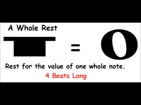 The Whole Rest - Short Music Theory Lesson - Music Notes