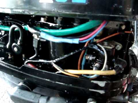 Force 50 Wiring Diagram 40 Hp Mercury Outboard 1975 Shortshaft Youtube