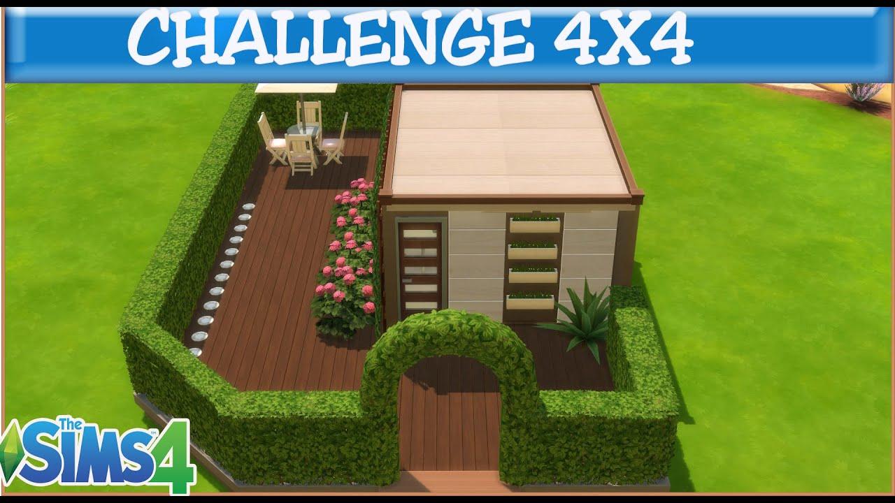 Les sims 4 challenge maison 4x4 youtube for Maison prefabriquee sims 4