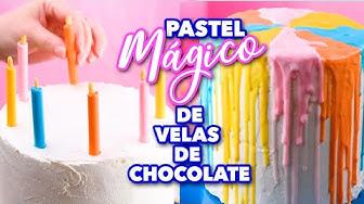 PASTEL MÁGICO DE VELAS DE CHOCOLATE. EXPECTATIVA/REALIDAD.