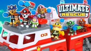 Paw Patrol Ultimate Rescue Fire Truck Pups Save the Day in Adventure Bay!