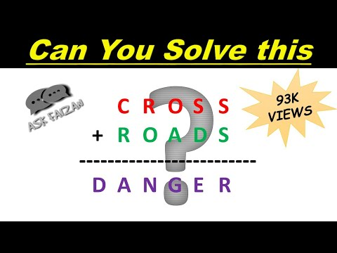 Crypt arithmetic Tutorial | Problem #3 |  Cross+Roads=Danger Problem | For CAT