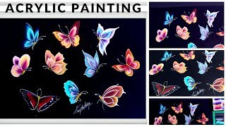 Top 10 Simple And Easy Butterfly Painting Acrylic Painting Beginners Painting Ideas Diy Youtube