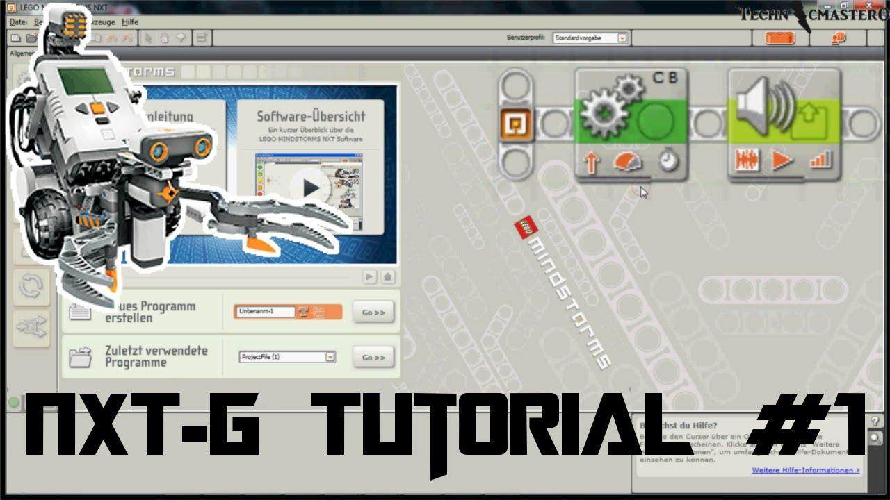 Lego Mindstorms NXT-G Tutorial #1: Mein erstes Programm [Deutsch|HD]